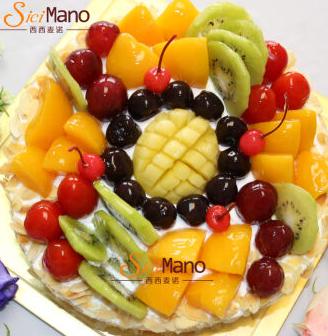 西西麦诺 风华正茂 水果生日蛋糕  8寸*4件