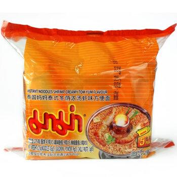 妈妈(MAMA) 泰式冬荫浓汤虾味方便面 275g 五联包