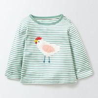 Mini Boden 儿童钩针贴花 纯棉条纹T恤