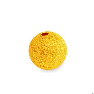 菜百首饰 9AAP4794 足金圆形磨砂转运珠 约0.3g