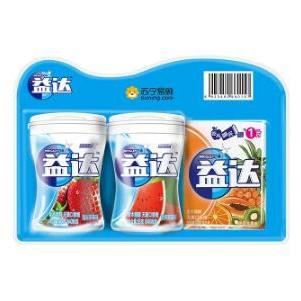 WRIGLEY'S 益达 木糖醇口香糖(西瓜味 40粒*2瓶+热带水果味 12粒)*2组