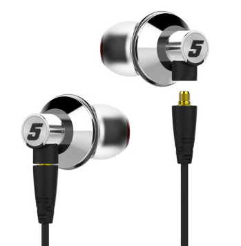 达音科(DUNU)TITAN-5 钛振膜入耳式HIFI手机音乐耳机 银色