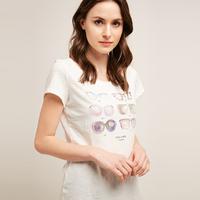 ESPRIT 056EE1K026 女士全棉印花T恤