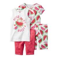 Carter's 婴幼儿家居服 小猴子西瓜4件套装 331G084