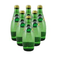 法国进口  巴黎水Perrier气泡矿泉水 原味  玻璃瓶装1箱  330MLx24瓶