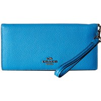 COACH 蔻驰 Polished Pebble Leather Slim 女士长款钱包