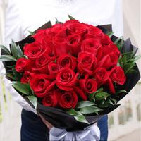 御见 鲜花速递 33朵红玫瑰