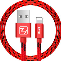 zoyu 苹果数据线充电线 1米 红色