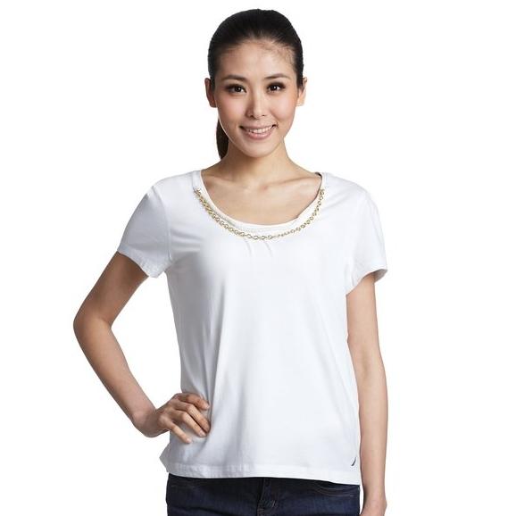 NAUTICA 诺帝卡 12VC02 女士短袖T恤