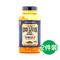 HOLLAND & BARRETT  深海鳕鱼鱼油 1000mg 240粒*2件