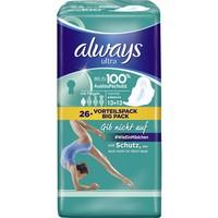 Always Ultra系列 4滴水超薄柔棉护翼日用型卫生巾 26片