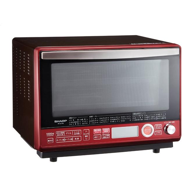 SHARP 夏普 RE-SS10B-R 水波炉蒸汽烤箱 红色款 31L