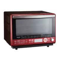 历史新低:SHARP 夏普 RE-SS10B-R 水波炉蒸汽烤箱 红色款 31L