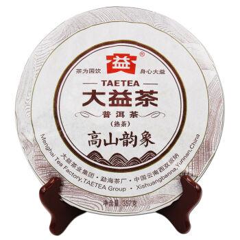 大益七子饼茶2015年勐海茶厂普洱茶高山韵象熟茶 单饼357g