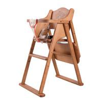 思巧 便携折叠儿童实木餐椅