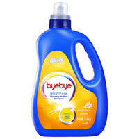 五羊百白(ByeBye)深层洁净洗衣液(自然清香)3.6kg*2件