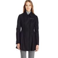 Calvin Klein Asymmetrical 女款羊毛混纺大衣