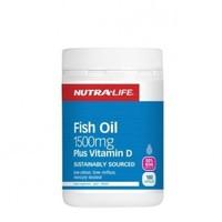 NUTRA-LIFE 纽乐 深海鱼油+维生素D胶囊  180粒
