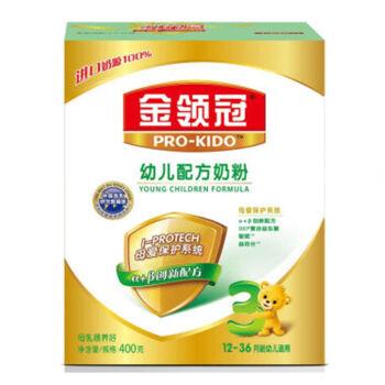 伊利 奶粉 金领冠系列 幼儿配方奶粉 3段400克*12