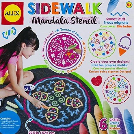 ALEX Toys 艺术家工作室系列 Sidewalk Mandala 涂鸦套装