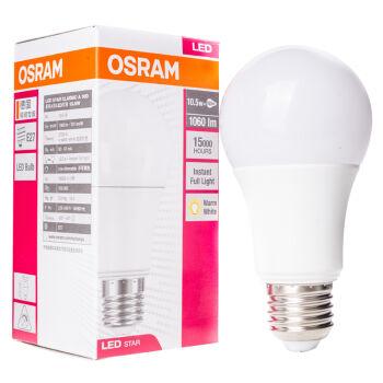 OSRAM 欧司朗 LED灯泡球泡 10.5W E27大口 暖白色 黄光