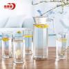 【苏宁易购超市】青苹果玻璃杯套装冷水壶大容量凉水壶创意八角扎壶个性八角杯水具 19.9元