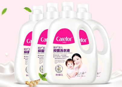 Carefor 爱护 婴儿植萃抑菌洗衣液 2L×4