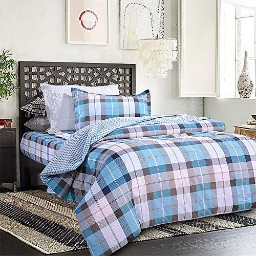 凯诗风尚 纯棉学院风床单被套 单人三件套 学生儿童全棉床上用品套件 AB版适用1.2/1.35米床 柯尔顿