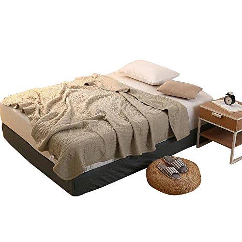 凯诗风尚 全棉盖被高端舒适夏凉被空调被 1.5 1.8m床适用(150*200cm)卡其色