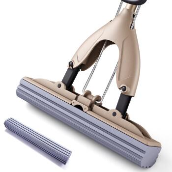 佳帮手 海绵拖把头 免手洗胶棉拖把可伸缩对折式吸水家用拖布 大号加强款