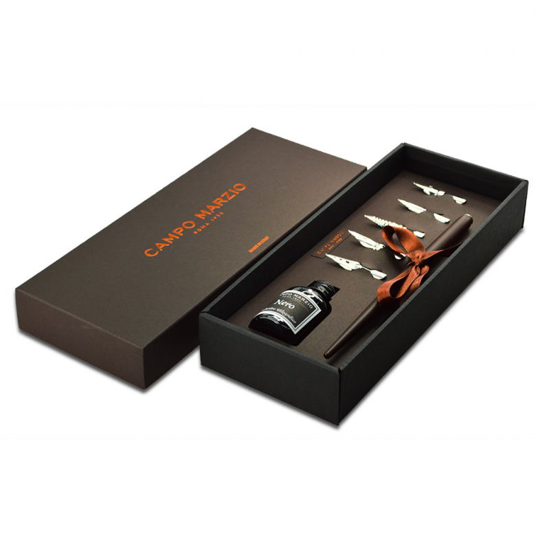 Campo Marzio 欧式复古蘸水钢笔+墨水礼盒套装