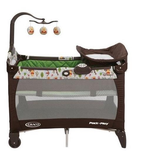 Graco 葛莱 Pack 'n Play® Woodland Pooh Playard 1920907 可折叠婴儿床