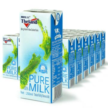 纽仕兰 3.5g部分脱脂牛奶 250ML*24盒/箱 新西兰进口 *2件