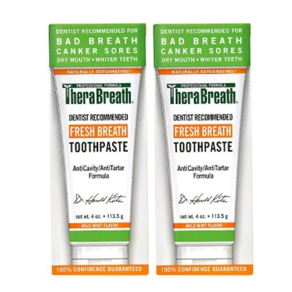 TheraBreath FRESH BREATH 薄荷味牙膏 4oz *2件