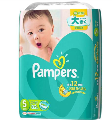 帮宝适 Pampers 绿帮纸尿裤 S82