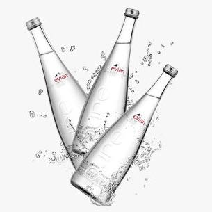 PLUS会员专享价 法国进口 依云(evian)天然矿泉水 750ml*12瓶 玻璃瓶装 整箱装 *2件