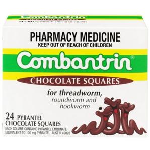 Combantrin 驱虫打虫杀蛔虫巧克力块 24块  *3件