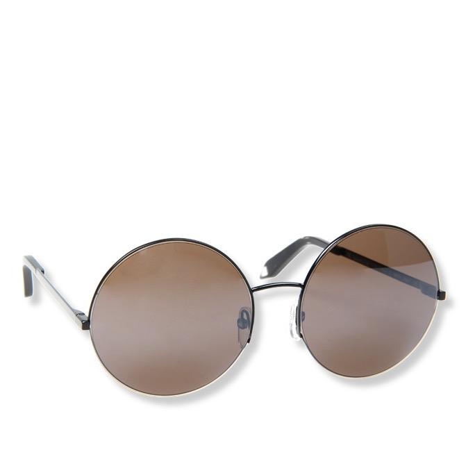 Victoria Beckham VBS95 棕色圆框复古时尚女士太阳镜