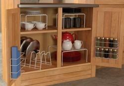 新低 Grayline 457101, 6 Piece Cabinet organizer Set, White Metal