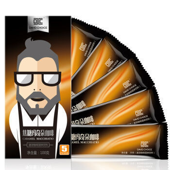 DAVIDCHOICE 大卫之选 焦糖玛奇朵速溶咖啡  100g *10件
