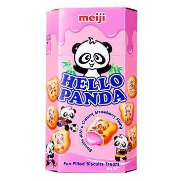 Meiji 明治 熊猫草莓夹心饼干 50g