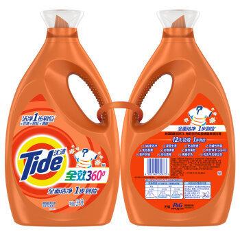 【京东超市】汰渍全效360度洁雅百合香型洗衣液3kg*2瓶