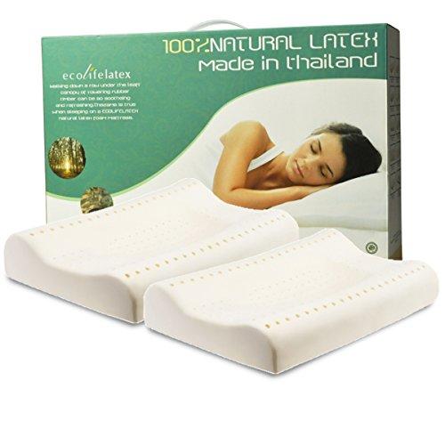 ECOLIFELATEX 乳胶护颈枕 PT3S(平滑低款)对装 (新老包装随机发)