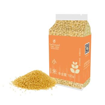 【京东超市】乐食麦 小米 无添加 黄小米 真空装 五谷杂粮 100g