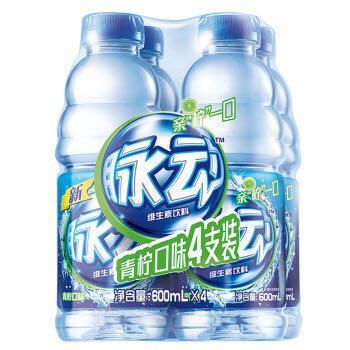 脉动(Mizone)维生素饮料 青柠味 600ml *4瓶