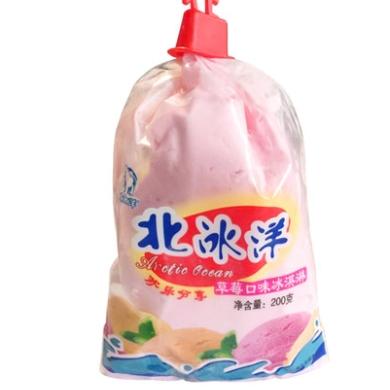 北冰洋  袋儿淋 草莓口味冰淇淋 200g*5