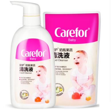Carefor 爱护 婴儿蛋白水解奶瓶清洗剂500ml+补充装 200ml