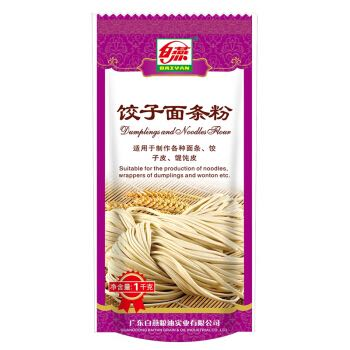【京东超市】白燕(BAIYAN)饺子面条粉 高筋面粉 1kg *2件