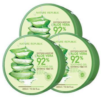 NATURE REPUBLIC 自然共和国 芦荟舒缓保湿凝胶 300g*3罐装 *2件