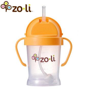 Zoli 儿童吸管学饮杯 带手柄 橙色 180ml